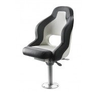 BOAT SEAT MODEL PILOT BLACK WITH  WHITE OR WHITE ONLY