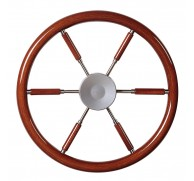 STEERING WHEEL MAHOGANY RIM & SPOKES  MODEL KWL 3 SIZE AVAILABLE
