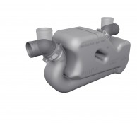 EXHAUST WATERLOCK FOR LONG RUNS 40 TO 50mm LSS40A-LSS5A