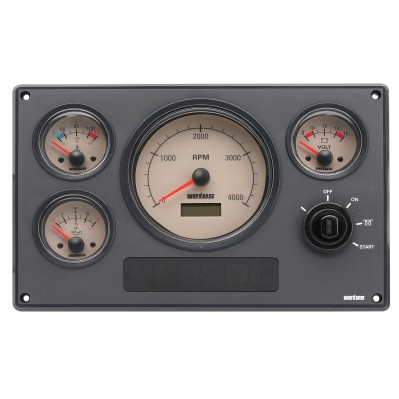 ENGINE INSTRUMENT PANEL MP34 CREAM OR BLACK 12/24V