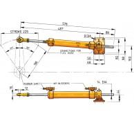 HYDRAULIC STEERING RAM MTC72