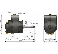 HYDRAULIC  COMMERCIAL HELM MODEL MTP089B-191B