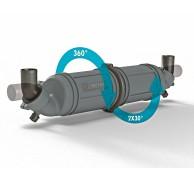 EXHAUST MUFFLER/WATERLOCK 6 sizes 40 to 90mm NLPH40-NLPH100