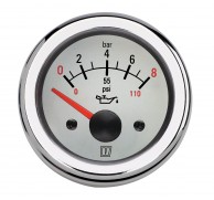 INSTRUMENT OIL PRESSURE GAUGE 12/24V