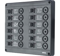 SWITCH PANEL 12 WAY CHOICE FUSES OR BREAKER 12 OR 24V