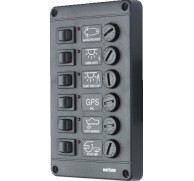 SWITCH PANEL 6 WAY CHOICE FUSES OR BREAKER 12 OR 24V