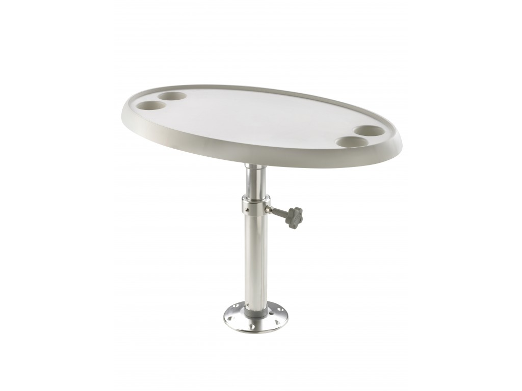 BOAT TABLE WITH PEDESTAL, MANUAL ADJUSTMENT, ROUND OR OVAL ...