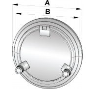 PORTHOLE TYPE PW201-PW221 AVAILABLE IN 3 SIZES  A1 RATED