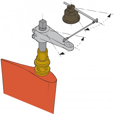 Instrument Rudder Position Indicator Gauge Rpi1810b Wl Amp W